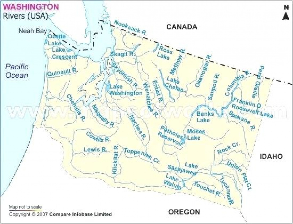 River Map Washington State Columbia – Peterbilt throughout Washington State Rivers Map