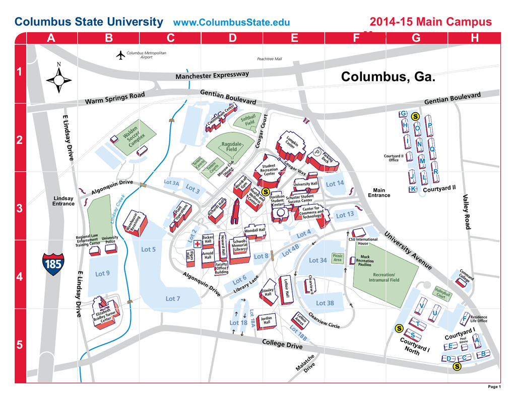 Riverpark Campus Map - Columbus State University in Columbus State Campus Map