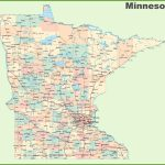 Road Map Of Minnesota With Cities Inside Mn State Map Of Cities