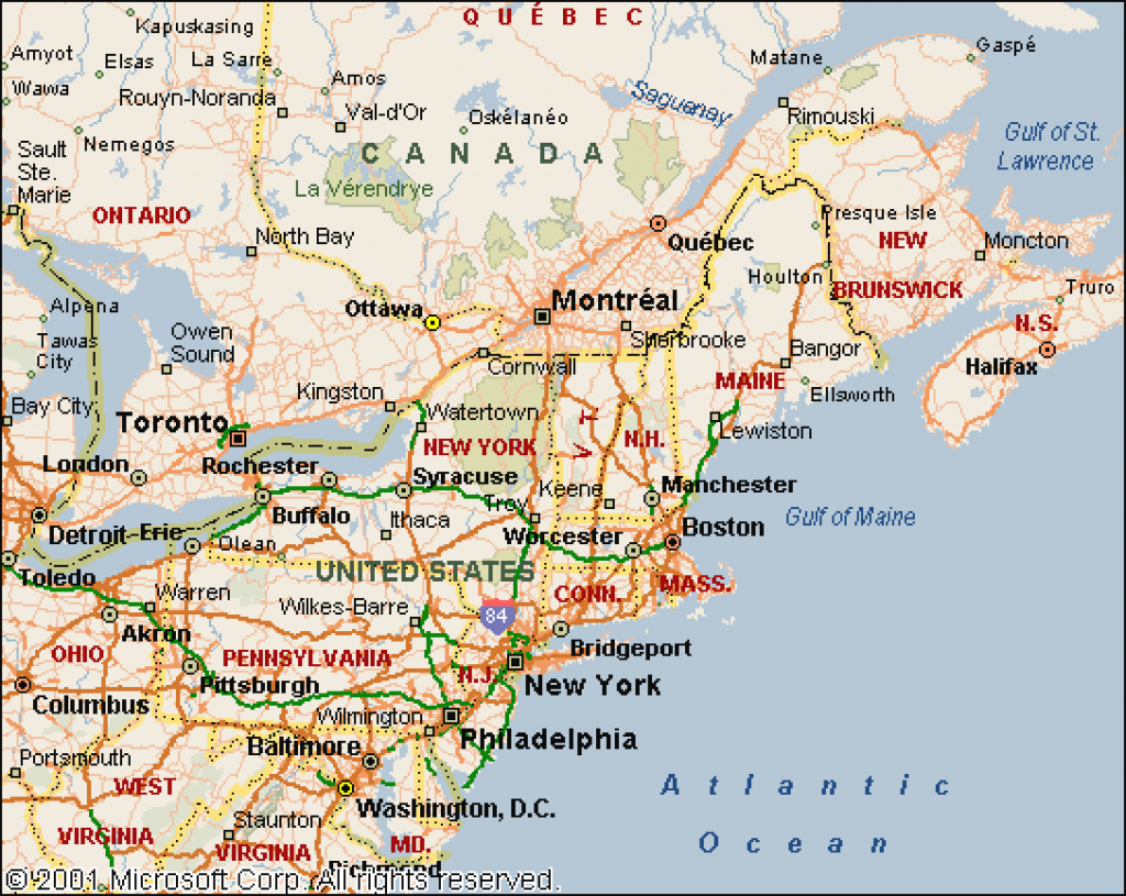 Road Map Of Northern United States And Travel Information | Download regarding Road Map Of Northern States