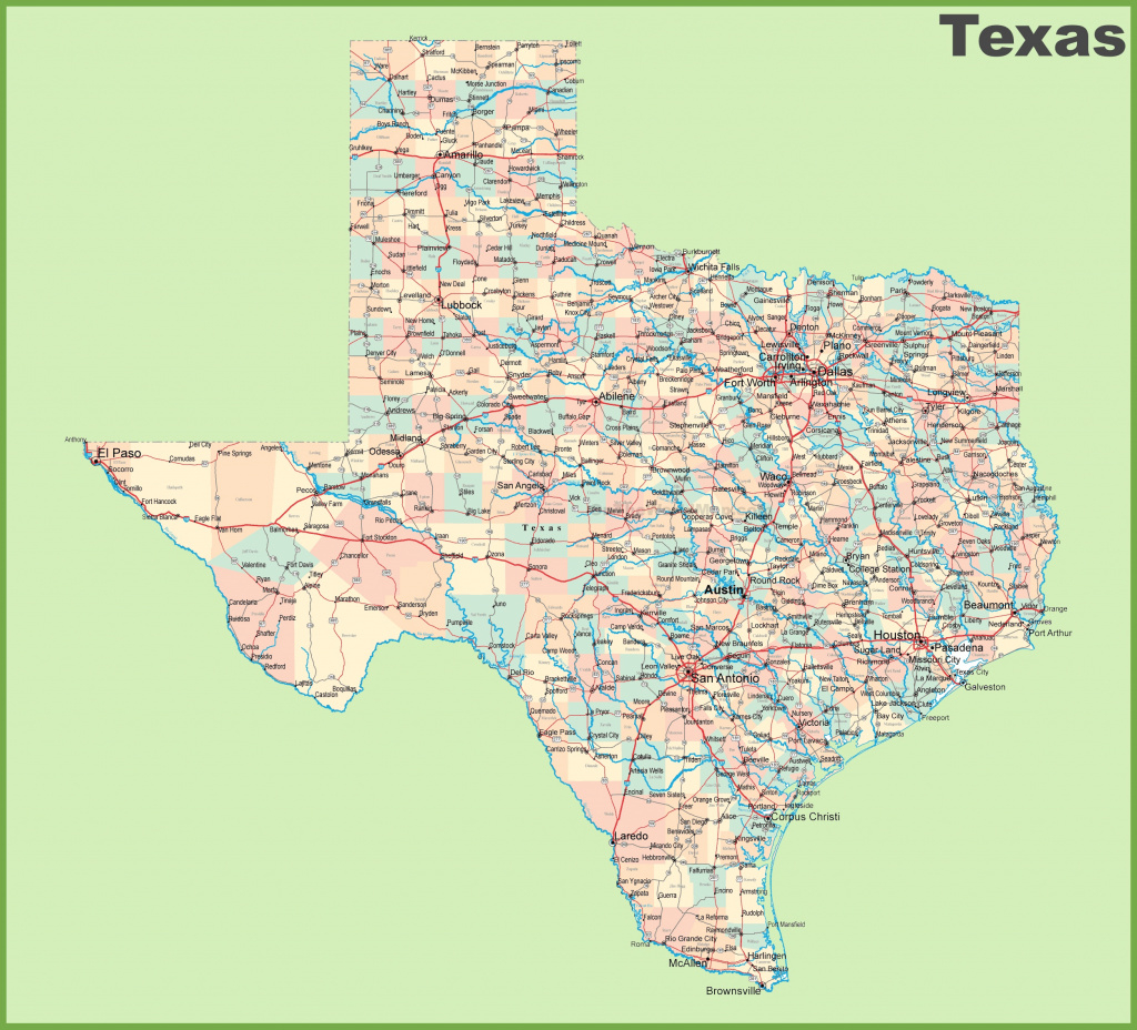 Road Map Of Texas With Cities for Texas Map State Cities