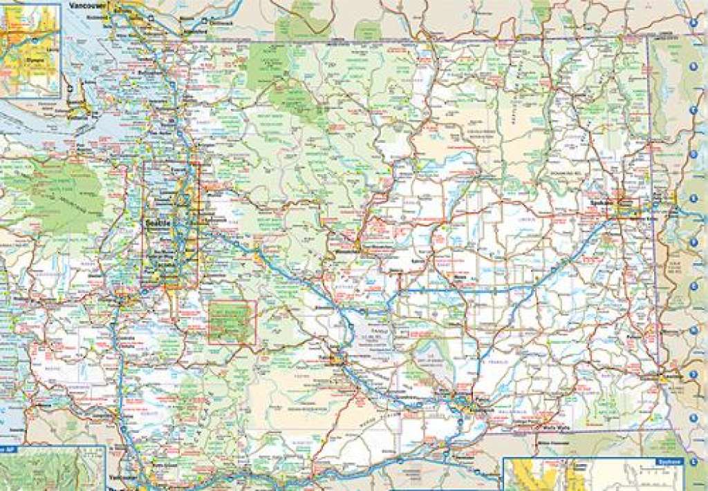 Road Map Of Washington State pertaining to State Road Maps