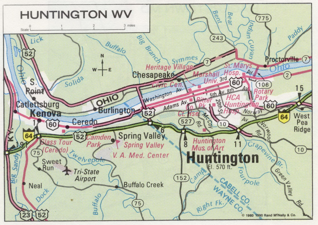 Road Map Of West Virginia And Travel Information   Download Free intended for Tri State Road Map