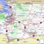 Road Map Usa. Detailed Road Map Of Usa. Large Clear Highway Map Of Regarding Washington State Road Map Printable