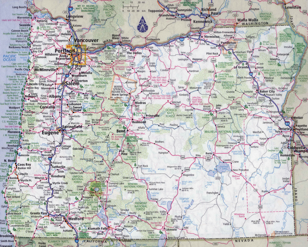 Road Maps Of Oregon State And Travel Information | Download Free throughout Oregon State Highway Map