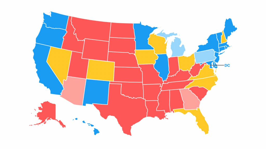 Road To 270: Cnn's General Election Map - Cnnpolitics in Map Of States And Electoral Votes