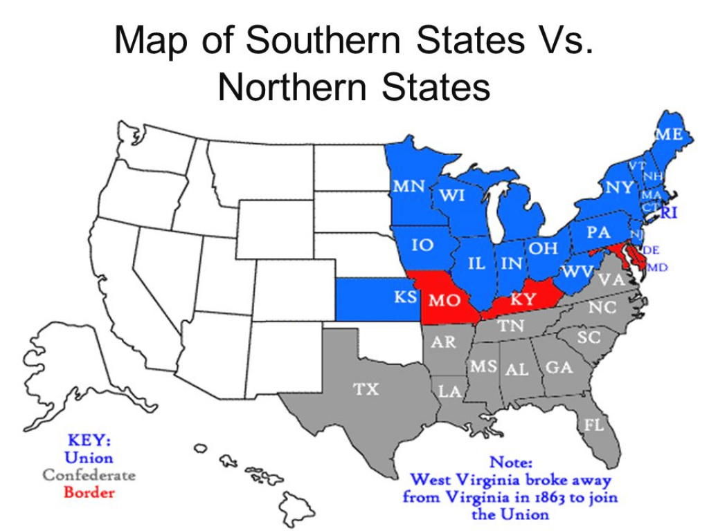 Road To The American Civil War - Ppt Video Online Download pertaining to Northern States Map