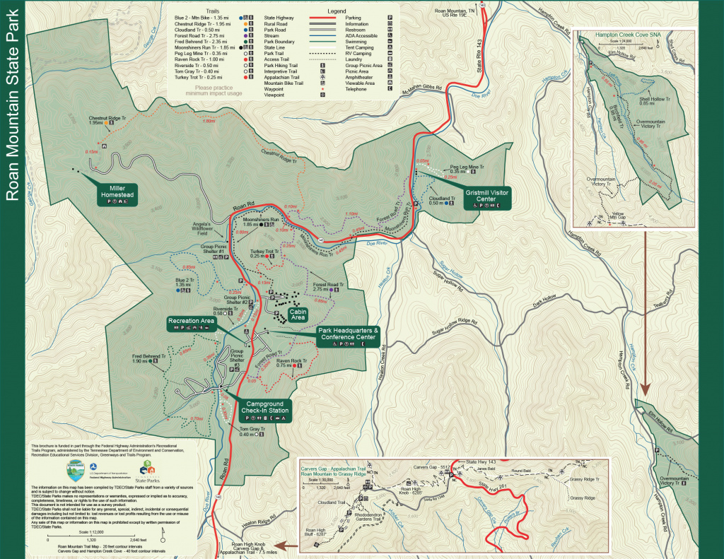 Roan Mountain State Park — Tennessee State Parks pertaining to Paris Mountain State Park Trail Map