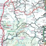 Rogue River Section – Oregon State Highway Map | Joe Duck For Oregon State Highway Map