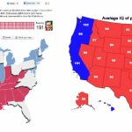 Romney Support Vs. Average Iq In Us  State : Atheism Inside Iq By State Map