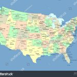 Royalty Free Stock Illustration Of Usa Map Names States Cities Stock Regarding Usa Map With States And Cities