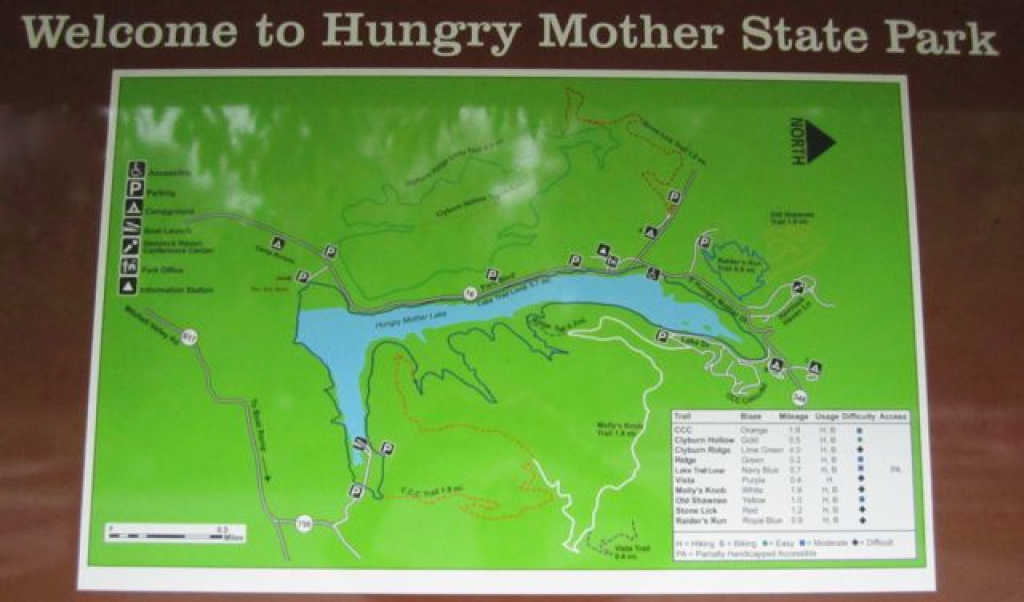 Running The Trails At Hungry Mother State Park - Deb Runs within Hungry Mother State Park Trail Map