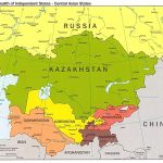 Russia And The Former Soviet Republics Maps   Perry Castañeda Map Pertaining To Russia And Commonwealth Of Independent States Map