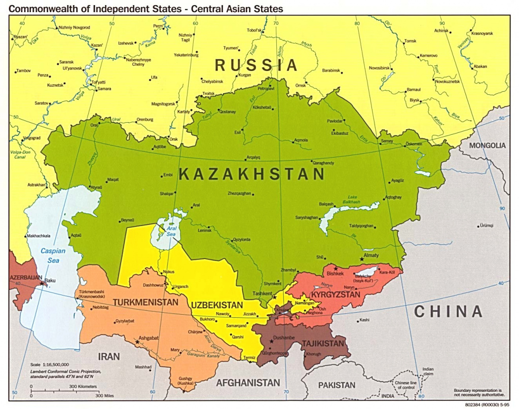 Russia And The Former Soviet Republics Maps - Perry-Castañeda Map pertaining to Russia And Commonwealth Of Independent States Map