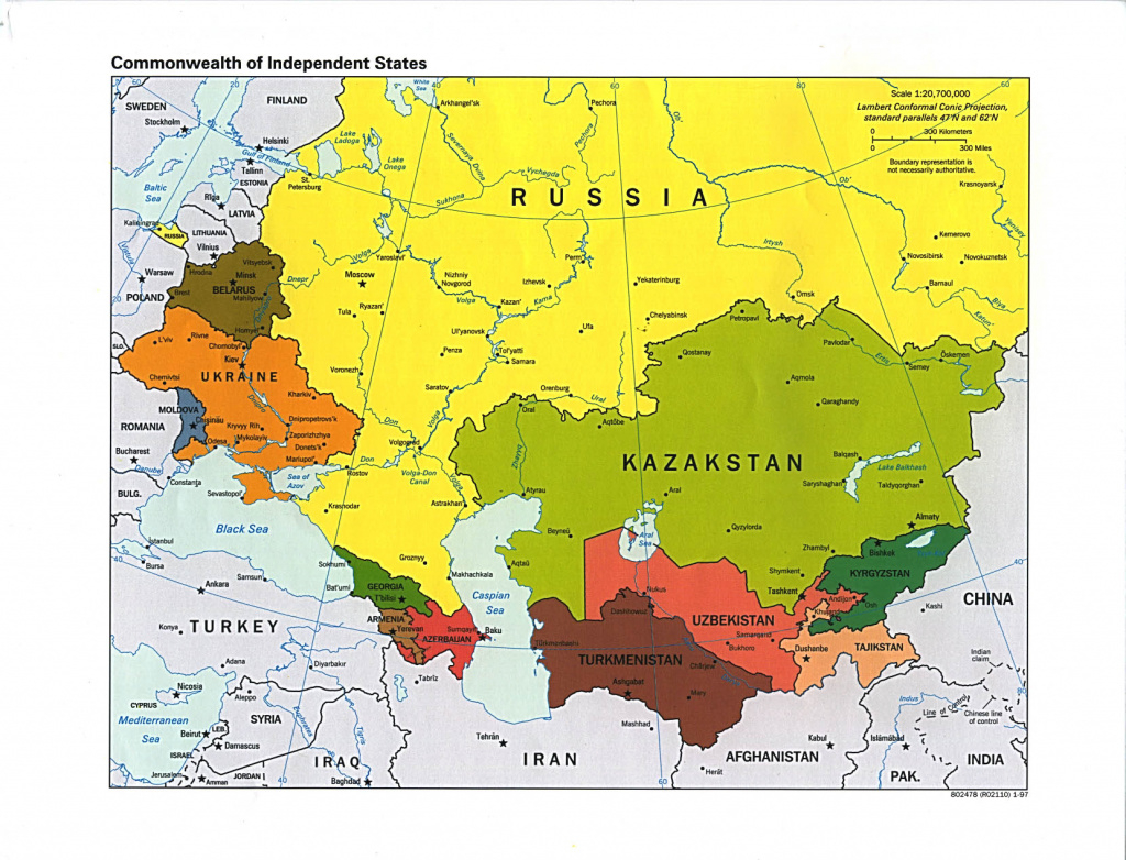 Russia And The Former Soviet Republics Maps - Perry-Castañeda Map regarding Russia And Commonwealth Of Independent States Map