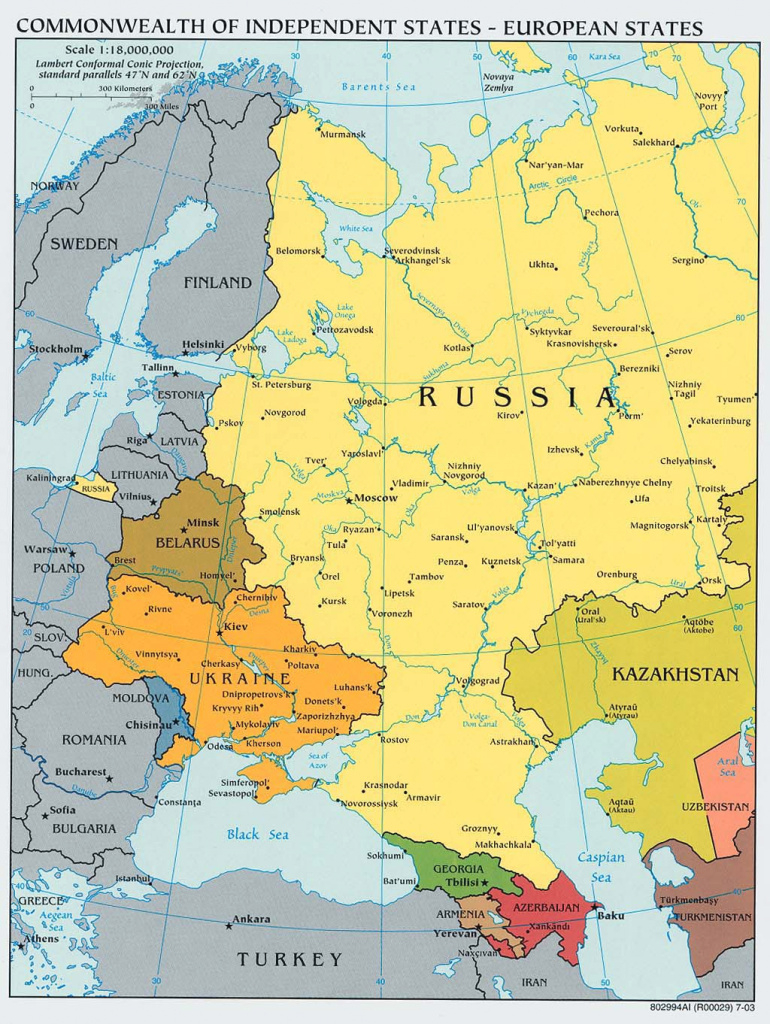 Russia And The Former Soviet Republics Maps - Perry-Castañeda Map with regard to Russia And Commonwealth Of Independent States Map