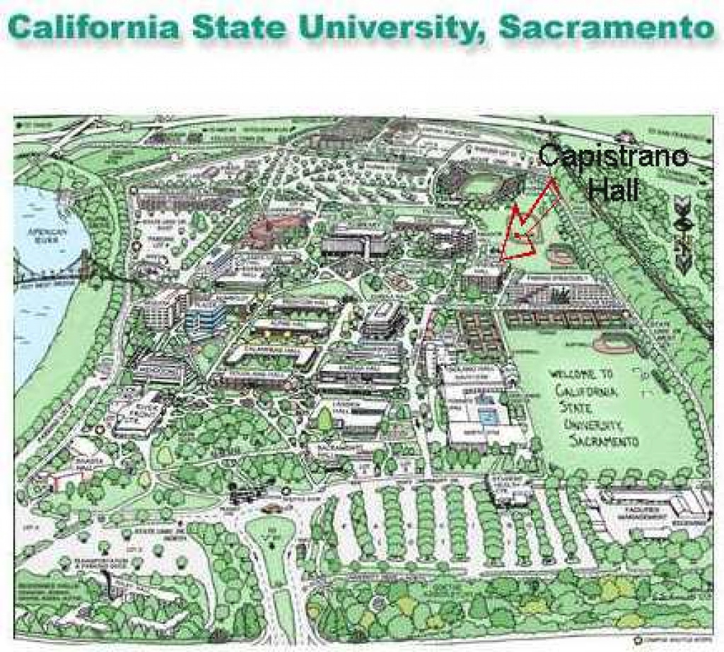 Sacramento State Campus Map | Helderateliers for Sac State Campus Map