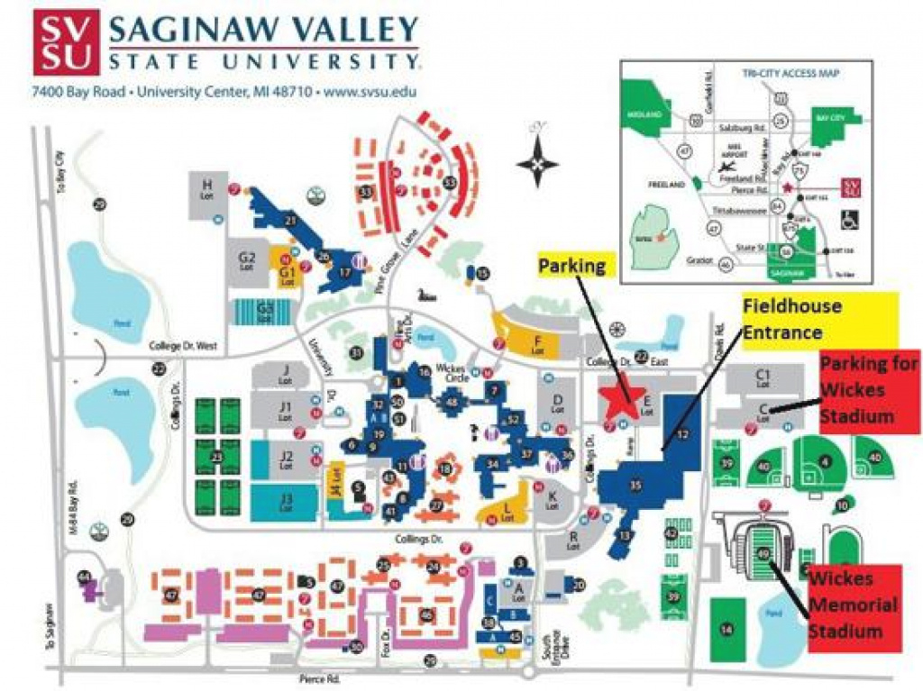 Saginaw Valley State University in Ferris State University Campus Map