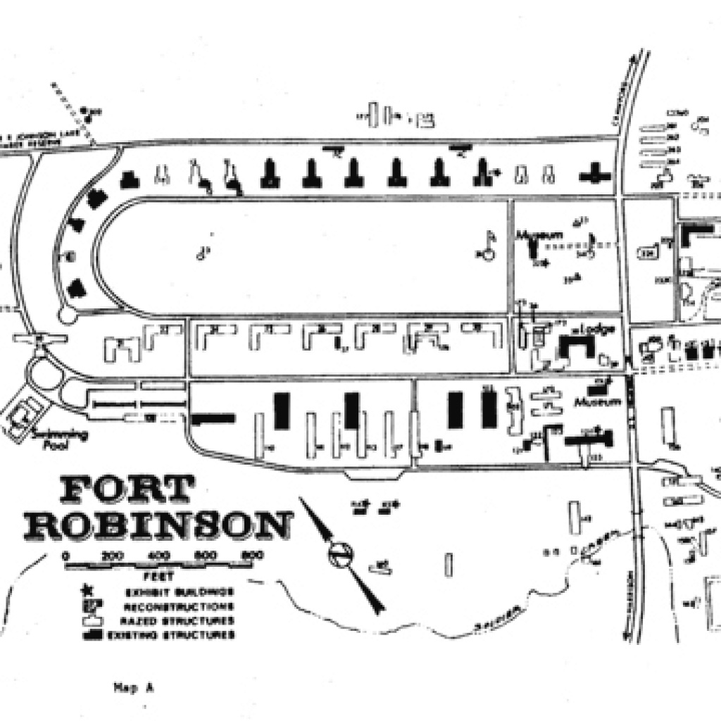 Sah Archipedia in Map Of Fort Robinson State Park
