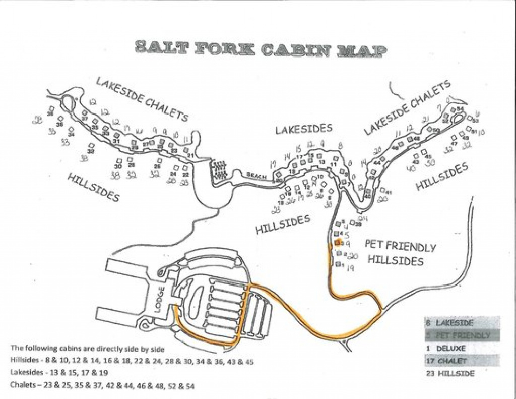 Salt Fork Cabin Map - Picture Of Salt Fork State Park, Cambridge pertaining to Ohio State Park Lodges Map