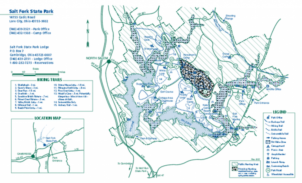Salt Fork State Park Map | Maps - Local | Pinterest | Park, Ohio And with Ohio State Park Lodges Map