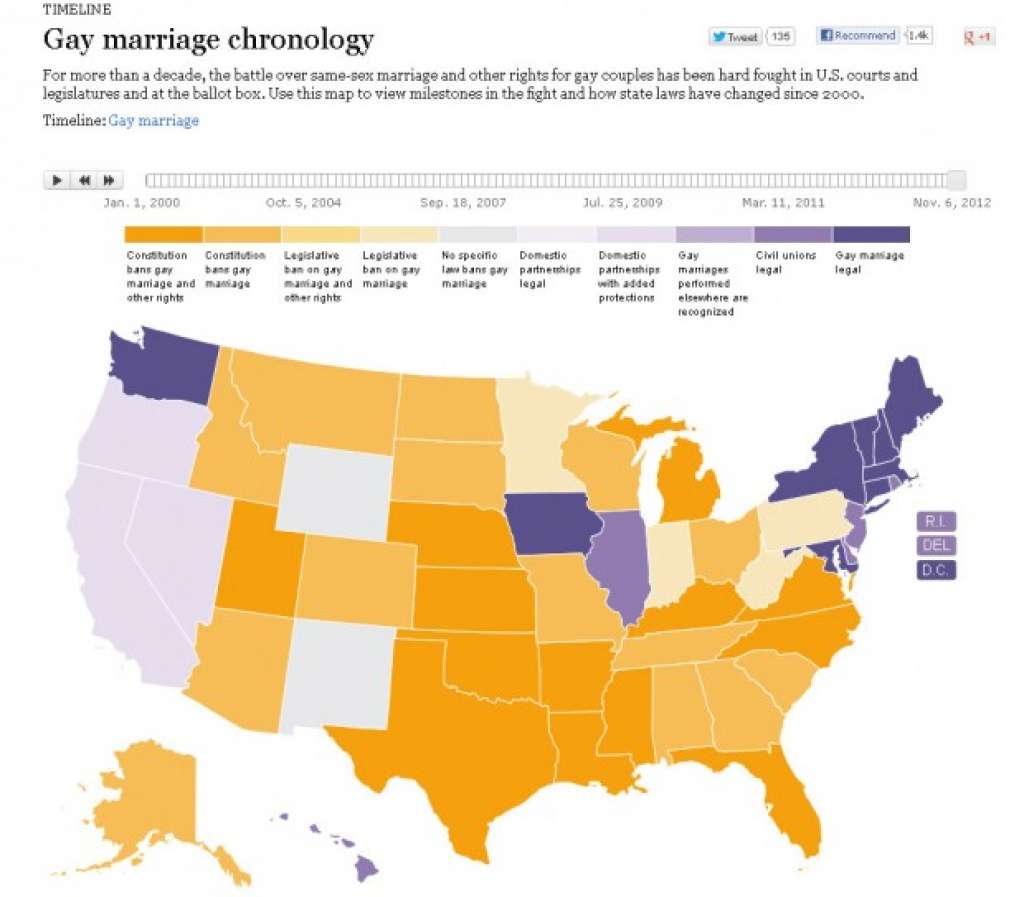 Same-Sex Marriage Lawsstate | The Lowdown | Kqed News inside Map Of States Legalized Gay Marriage