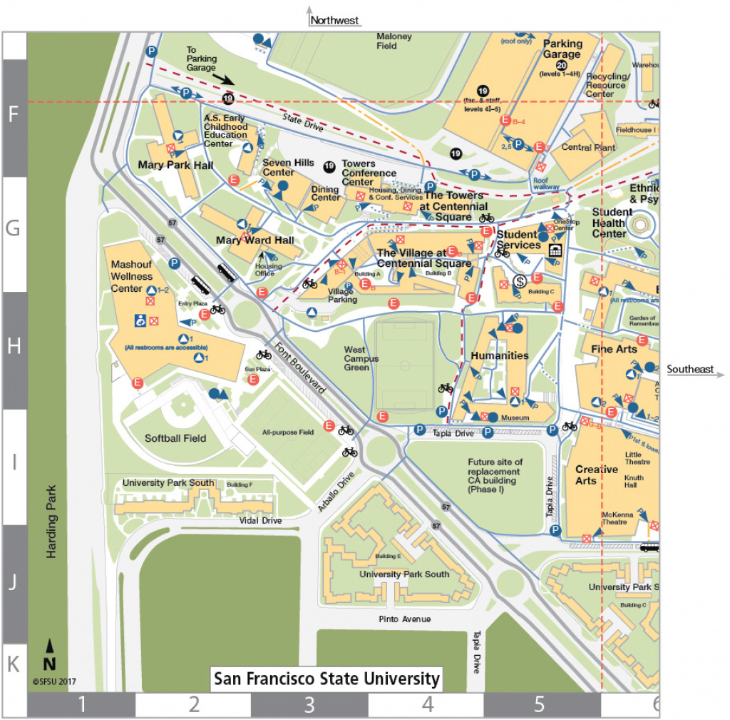 San Francisco State University Map pertaining to Central State University Campus Map