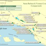 Santa Barbara   Ventura Counties Campground Map Regarding Carpinteria State Beach Campground Map