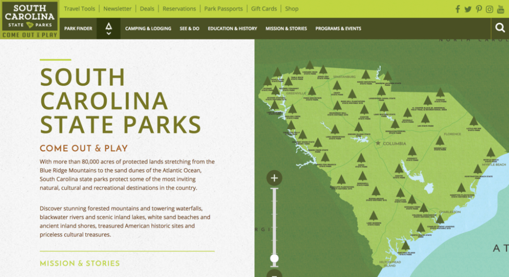 Sc State Parks — Brian Piazzi in South Carolina State Parks Map