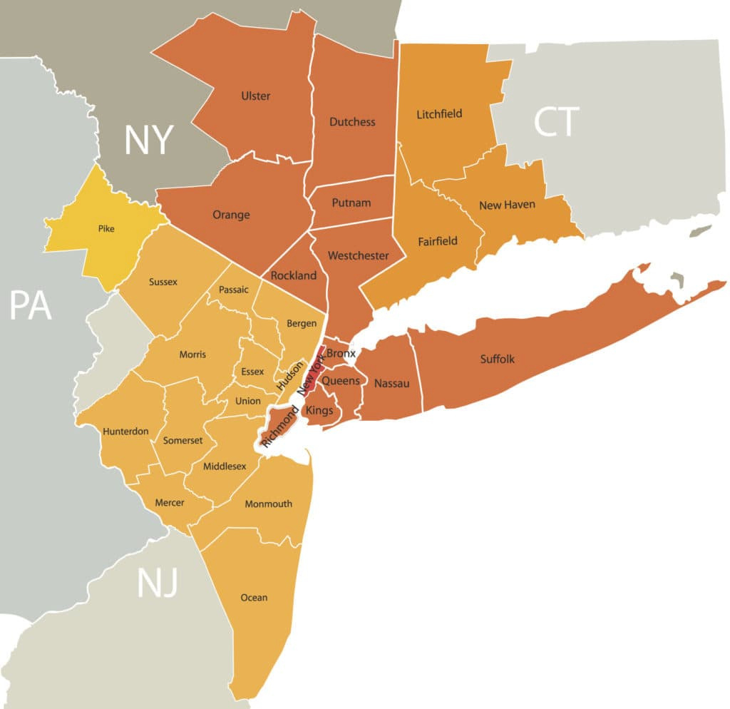 Scoliosis Specialist Nyc - Hudson Valley Scoliosis within New York Tri State Area Map