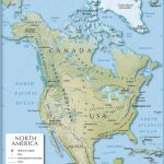 Shaded Relief Map Of North America (1200 Px)   Nations Online Project With Regard To United States And Canada Physical Map