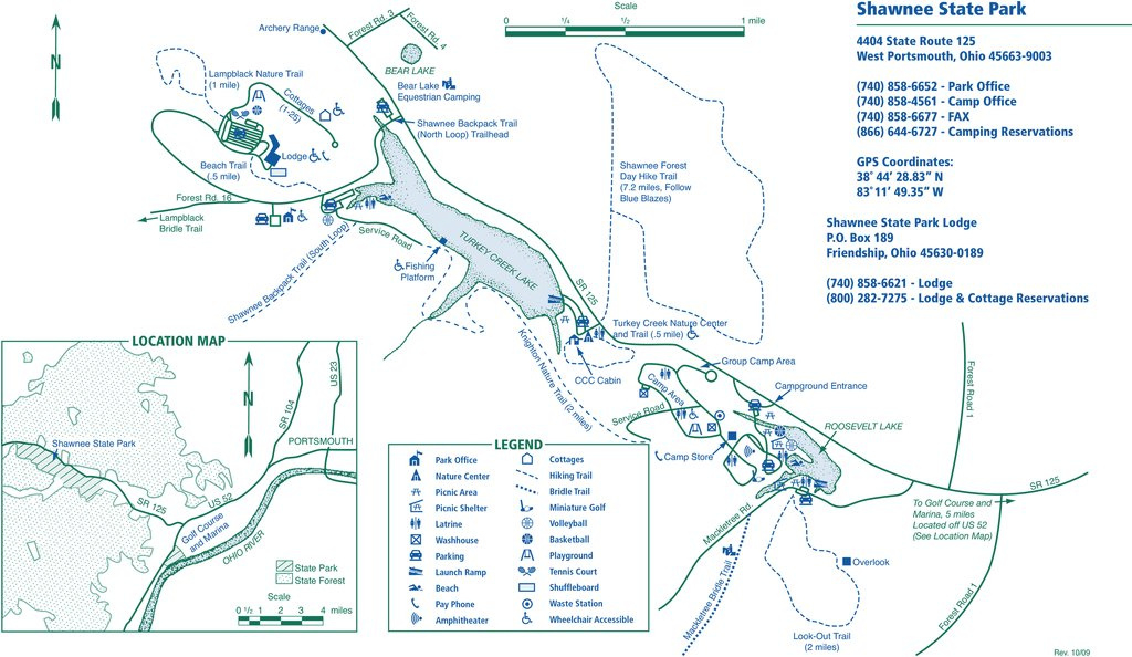 Shawnee State Park - Maplets within Ohio State Parks Camping Map
