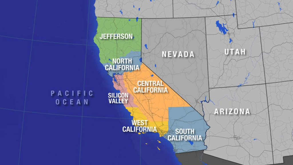 Should California Split Into 6 States? | Abc7 inside Splitting California Into Two States Map