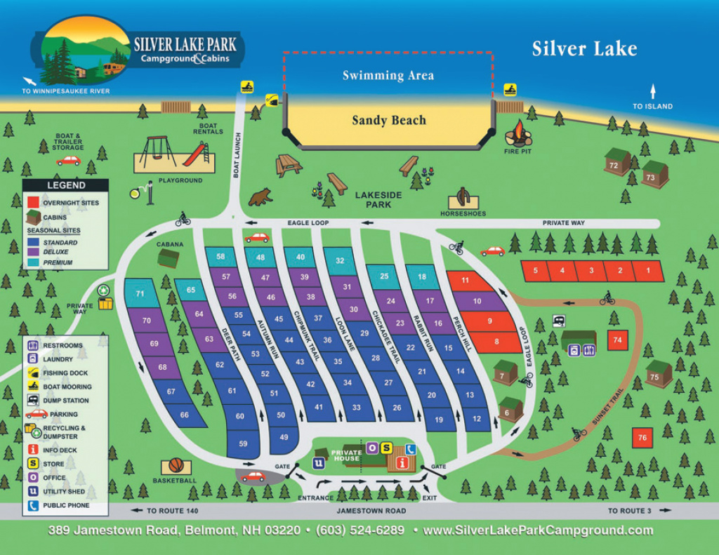 Silver Lake Park Campground :: Site Map & Rules throughout Silver Lake State Park Campground Map