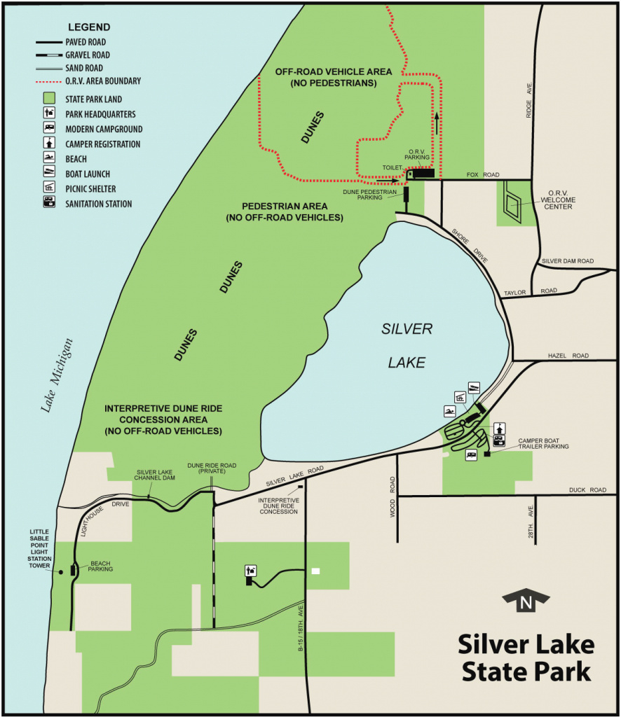 Silver Lake State Parkmaps & Area Guide - Shoreline Visitors Guide inside Silver Lake State Park Campground Map
