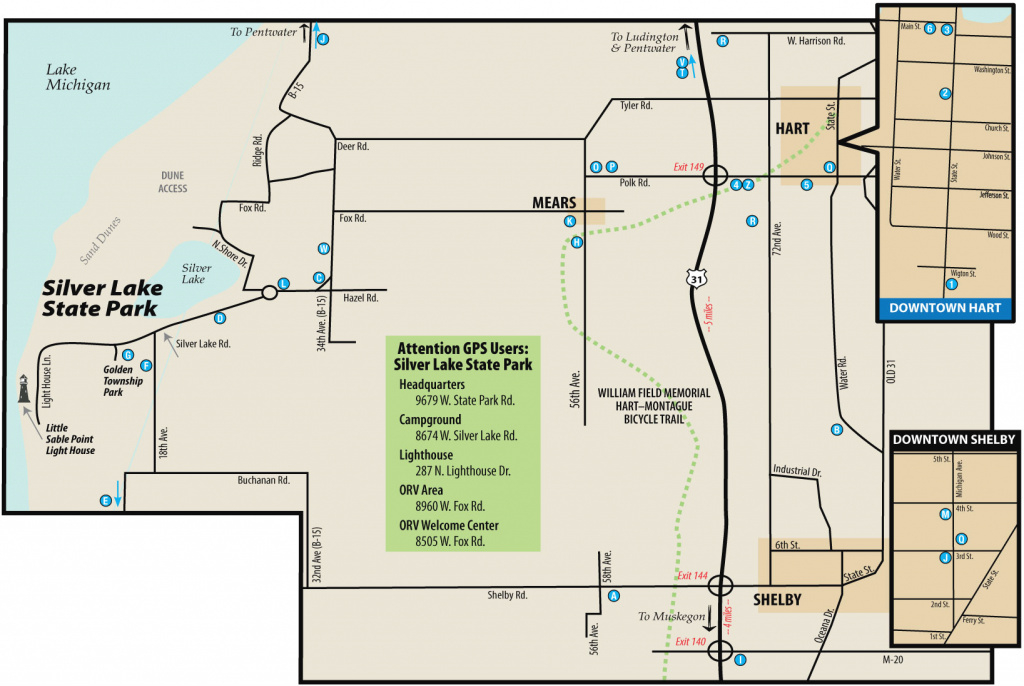 Silver Lake State Parkmaps & Area Guide - Shoreline Visitors Guide pertaining to Silver Lake State Park Campground Map