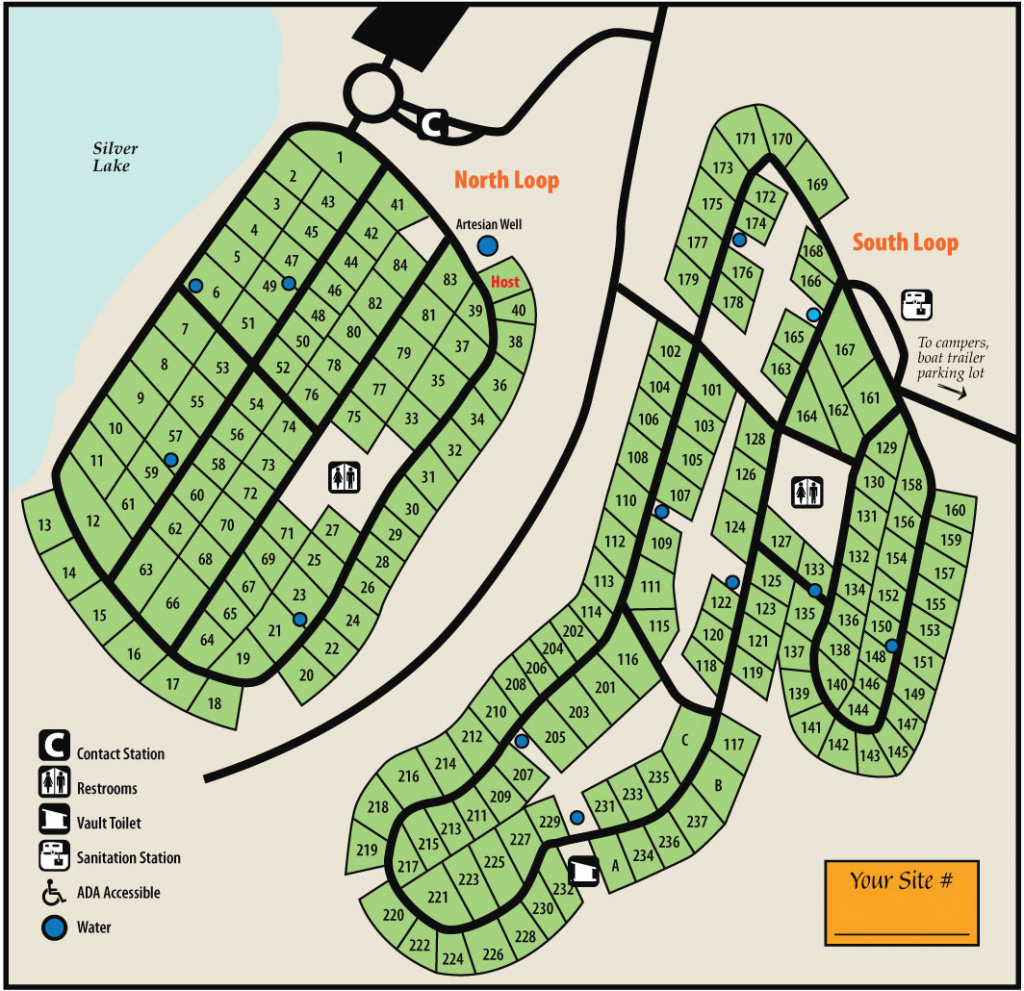 Silver Lake State Parkmaps & Area Guide - Shoreline Visitors Guide regarding Silver Lake State Park Campground Map