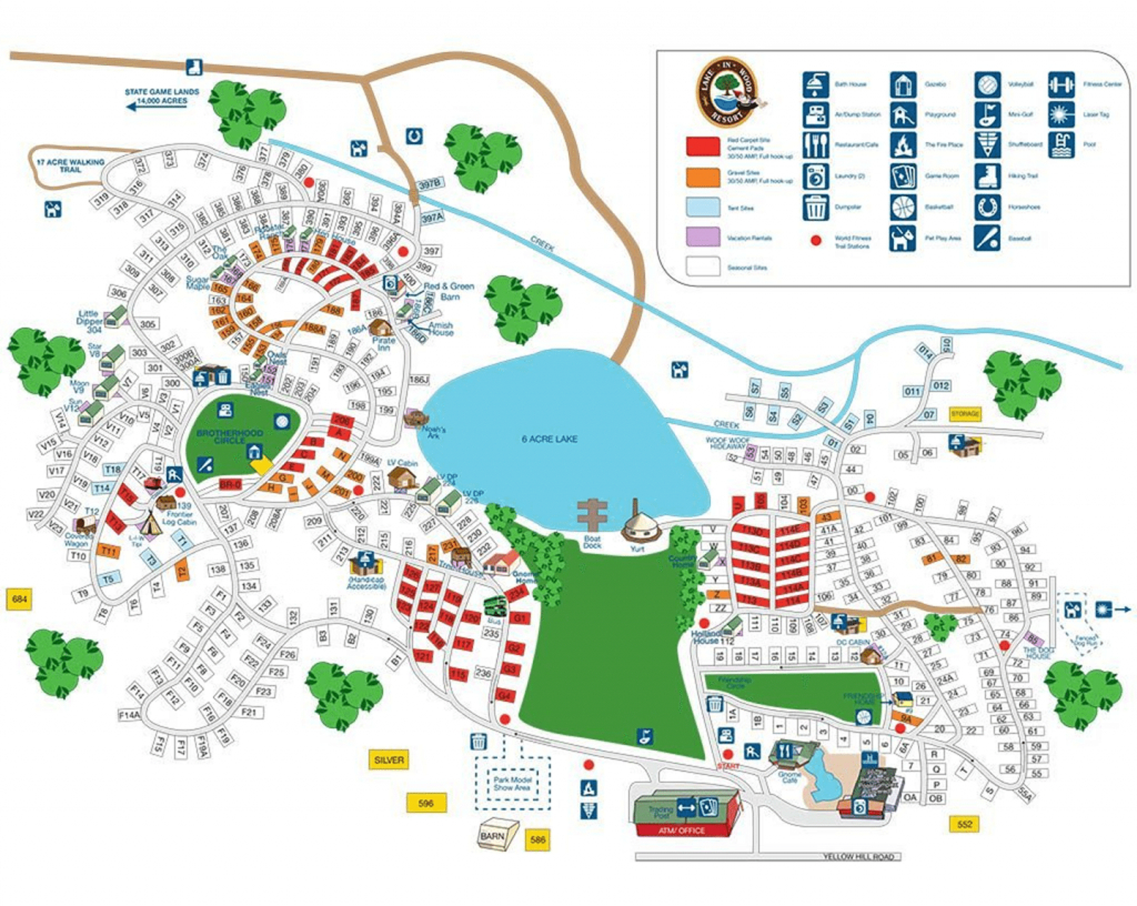 Site Map | Lake In Wood Campground within Sun Lakes State Park Site Map