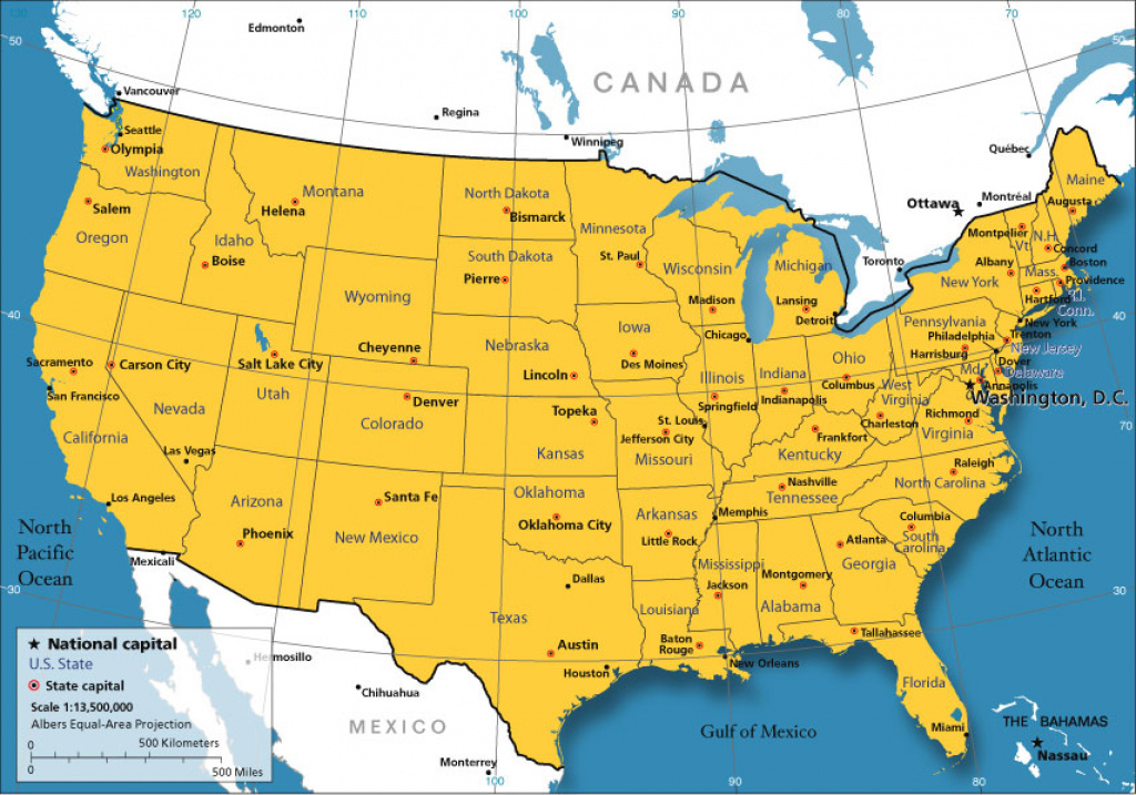 Small Usa Map - Nations Online Project within Picture Of Us Map With States