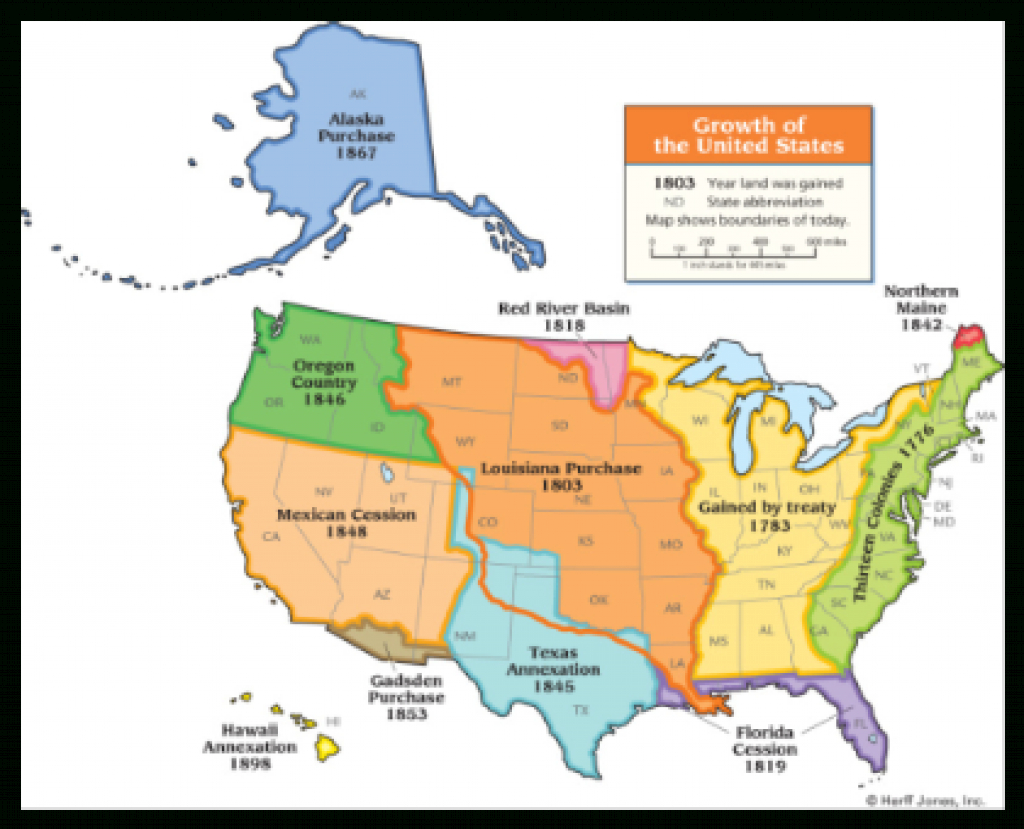 Smart Exchange - Usa - Growth Of The United States in Growth Of The United States To 1853 Map