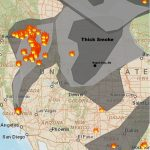 Smoke From Pacific Northwest Fires In Map Of The Washington State Fires