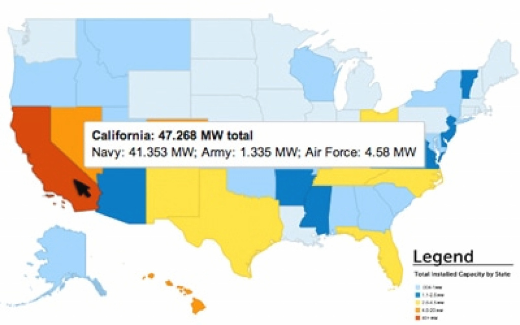 Solar Works For The Military: Installations Map | Seia intended for Military Bases By State Map
