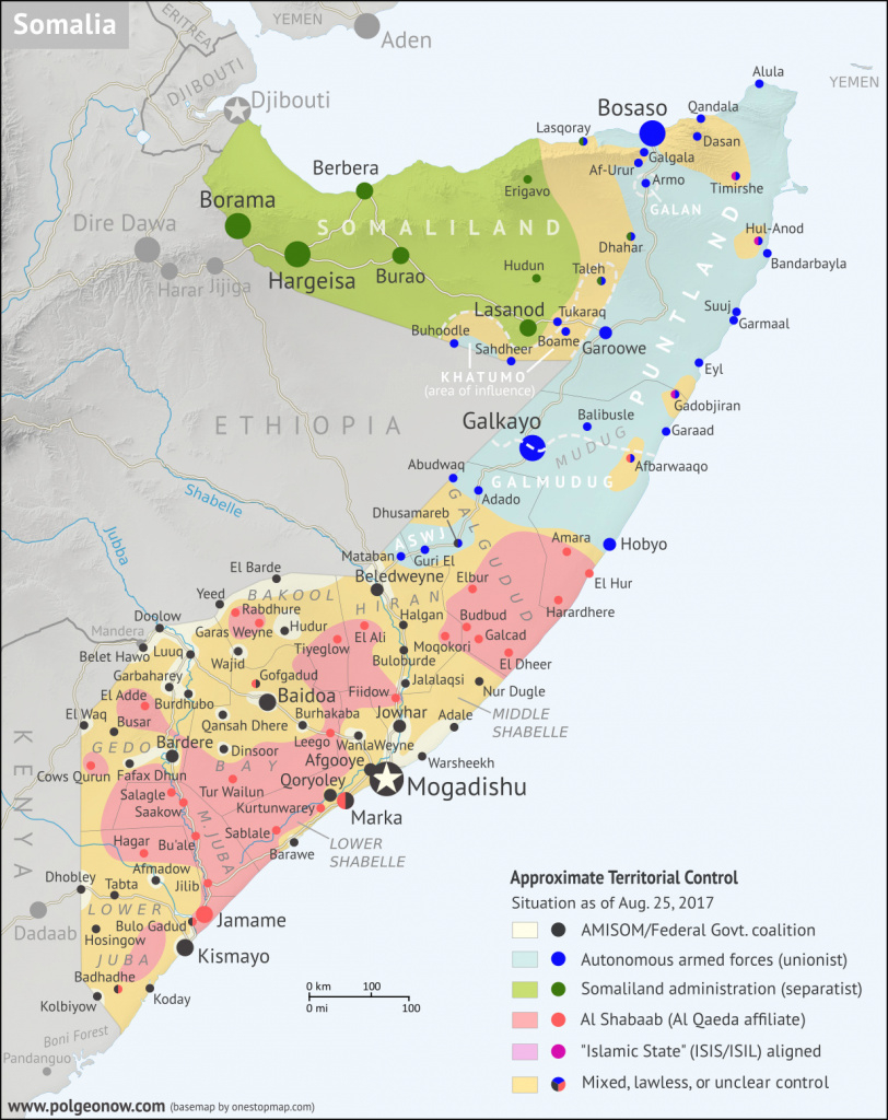 Somalia Control Map & Timeline - August 2017 - Political Geography Now regarding Jubaland State Map