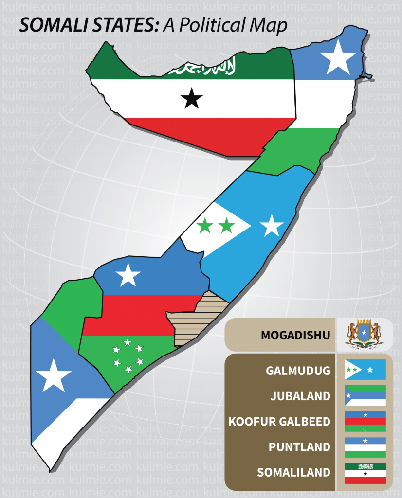 Somalia-State-Map — Shabelle with Jubaland State Map
