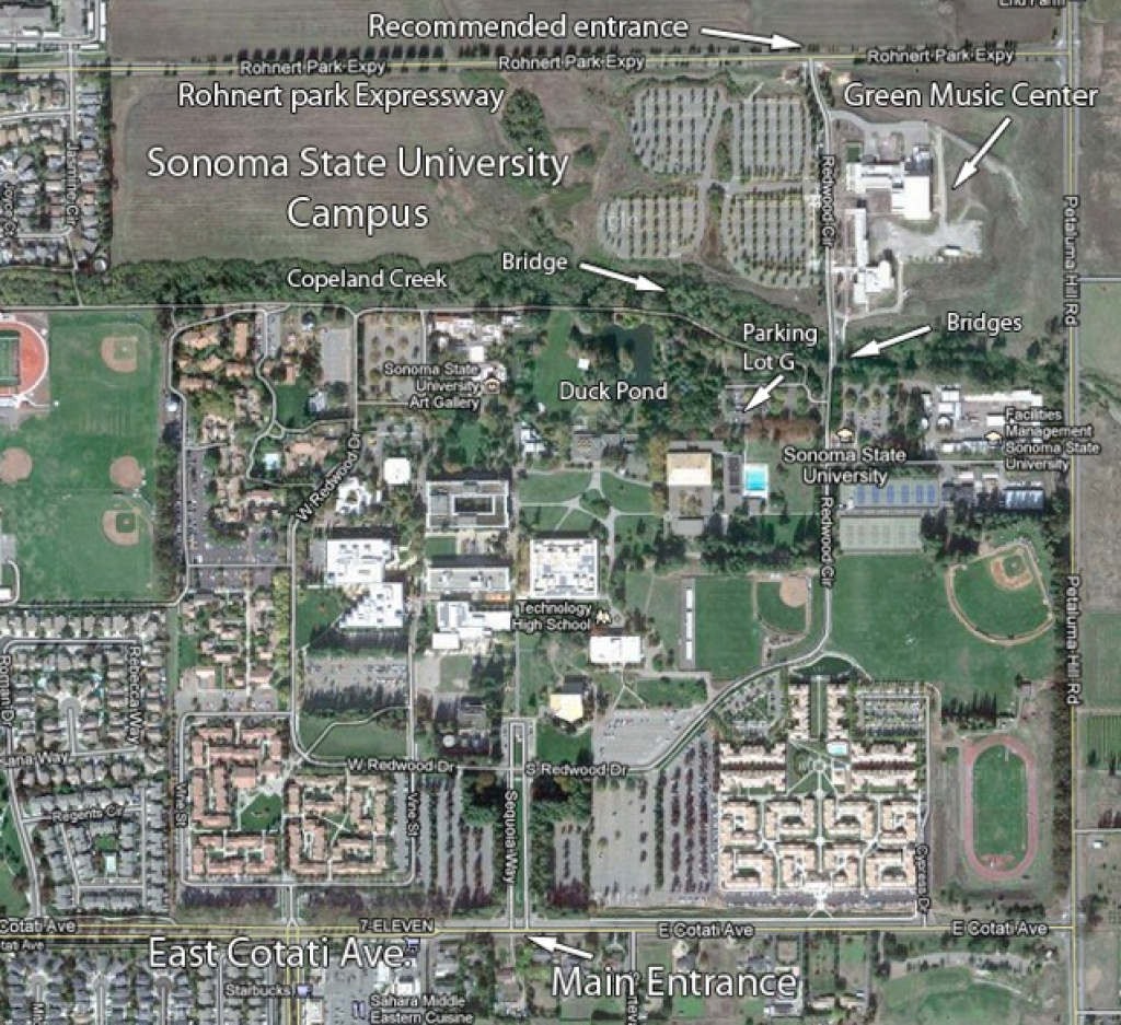 Sonoma State University Campus inside Sonoma State University Housing Map