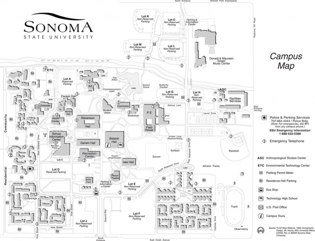 Sonoma State University - Maplets within Sonoma State University Housing Map