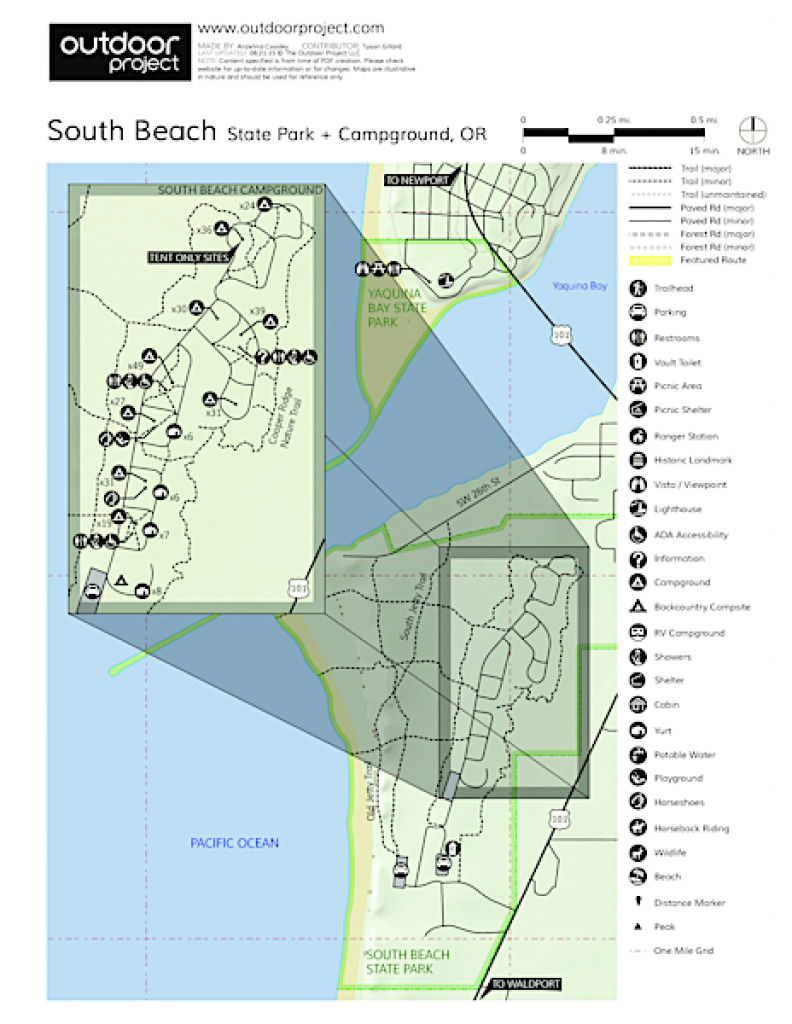 South Beach State Park Campground | Outdoor Project in Oregon State Parks Camping Map