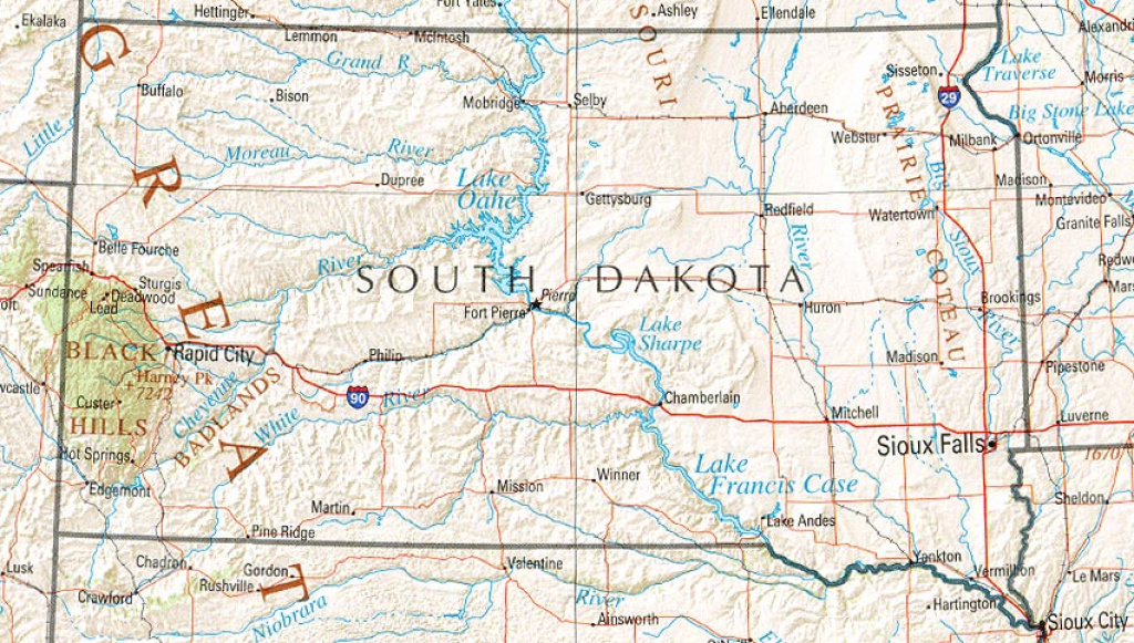 South Dakota Maps - Perry-Castañeda Map Collection - Ut Library Online in South Dakota State Parks Map