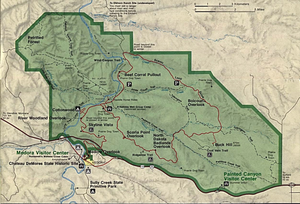 South Dakota National Parks Map And Travel Information | Download within South Dakota State Parks Map