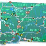 Southeast Washington Map   Go Northwest! A Travel Guide For Map Of Washington State Cities And Towns